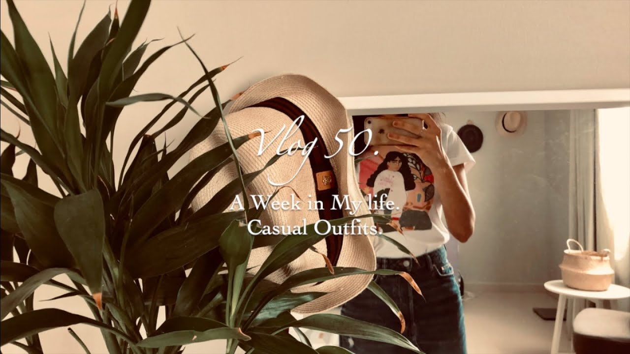 [Vlog 50.] A Week of Casual Outfits. Relaxing No Talk Lifestyle Vlog. 3