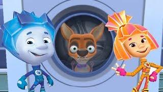 ФИКСИКИ СТИРАЛЬБНАЯ МАШИНА Детский Уголок Kids'Corner Игра Как Мультфильм для Детей