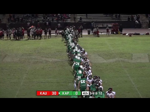 KIF Varsity Football Kapaa vs Kauai High