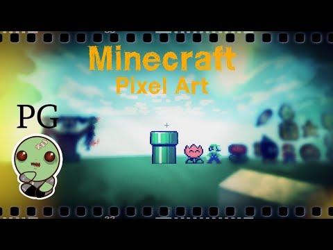 Minecraft: Pixel Art - Warp Pipe and Link Sprite