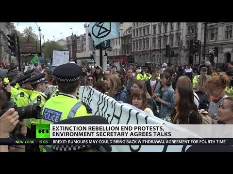 Extinction Rebellion end protests, Michael Gove agrees talks