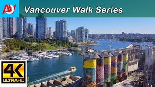 Vancouver 10 MINUTE WALK: CROSSING GRANVILLE BRIDGE Heading North to Downtown