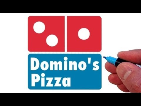 How to Draw the Domino's Pizza Logo