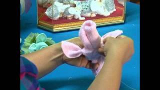 การพับผ้าเช็ดหน้าเป็นดอกกุหลาบ