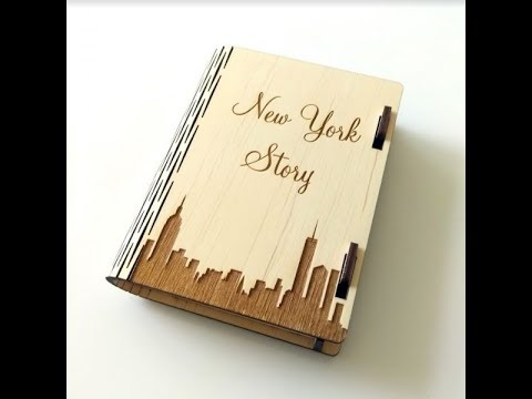 Handcarved Wooden NYC Storybook Box - New York City Souvenirs