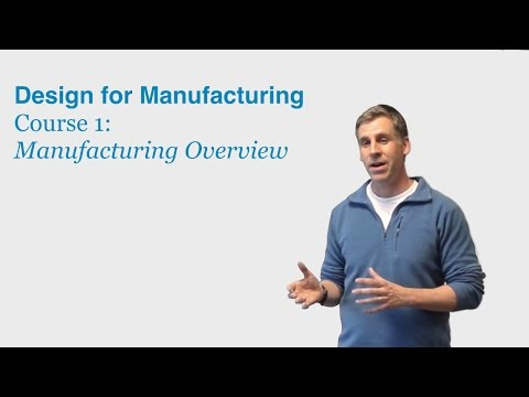 Design for Manufacturing Course 1: Manufacturing Overview - DragonInnovation.com
