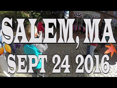 Autumn Walk Through Salem, Massachusetts in 4k : The Daily Battle Family Vlog