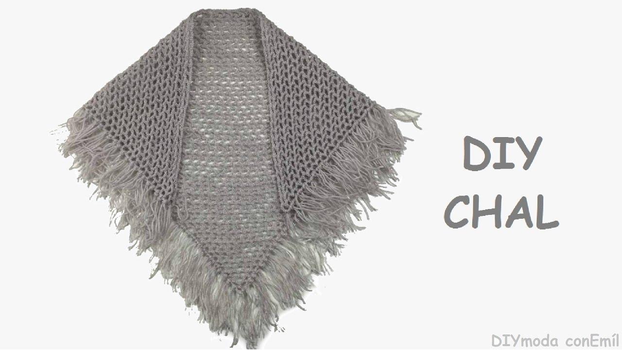 Chal triangular a crochet ganchilo paso a paso - YouTube