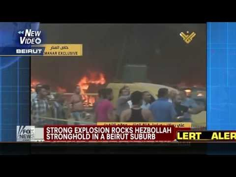 Breaking News : Huge deadly explosion rocks Hezbollah stronghold in Beirut Lebanon (Aug 15, 2013)