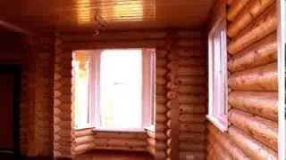 Внутренняя часть дома из оцилиндрованного бревна(Заказать постройку деревянного дома вы можете нашем сайте: http://fr-dom.justclick.ru/srub Строительство деревянных..., 2013-08-14T14:31:50.000Z)