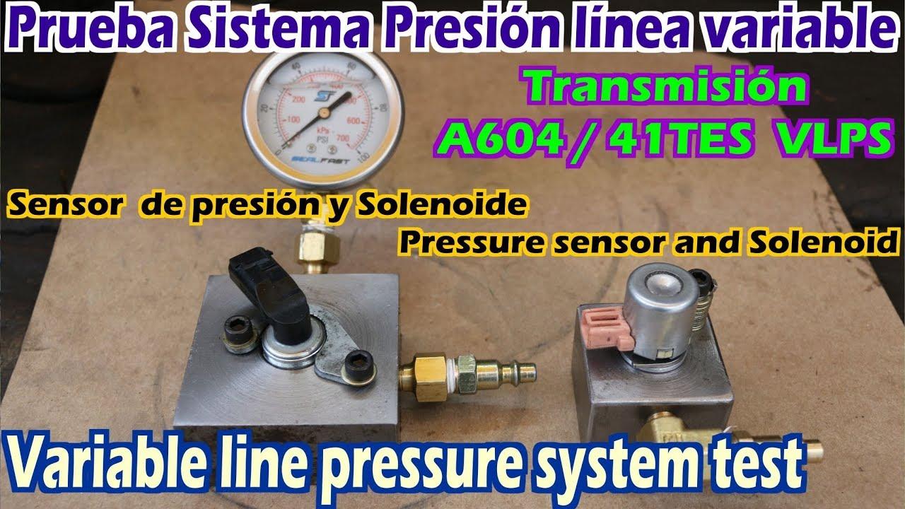 Test line pressure sensor A604 41TES 42RLE