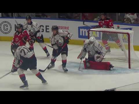 Serge Beaulieu ( Rouyn Noranda vs Quebec ) QMJHL .