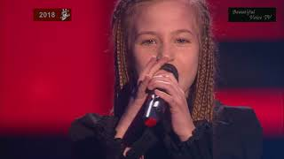Angelina. 'Dangerous Woman'. The Voice Kids Russia 2018.