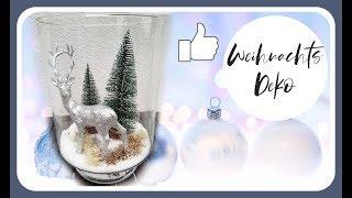 WEIHNACHTSDEKO im Glas selber machen - Tischdeko Weihnachten DIY Deko Idee KatisweltTV