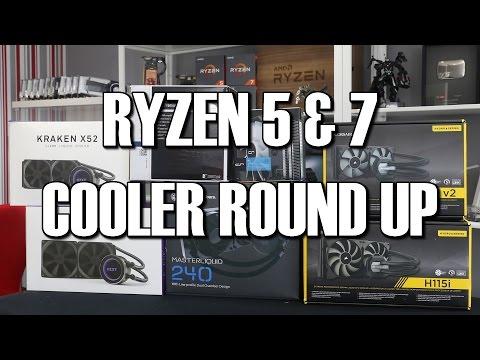 AMD Ryzen Cooling Round Up 1500x 1600x 1800x
