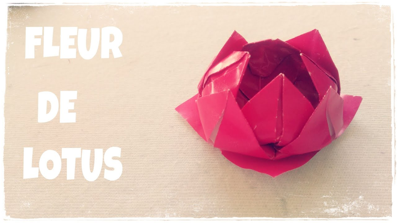 comment faire une fleur de lotus en papier - youtube