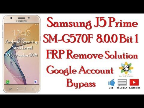 Samsung Sm G570f Android 8 0 0 Oreo Remove Google Account Frp
