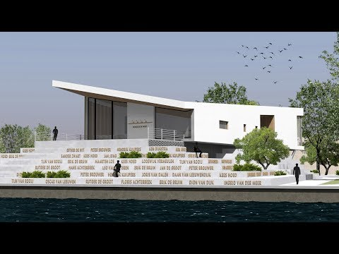 Sketchup Design - Rowing Club in Amsterdam (My first year project)