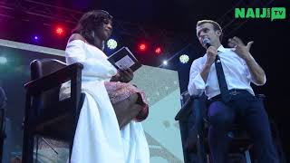 president of france emmanuel macron visits felas home new afrika shrine naijcom tv