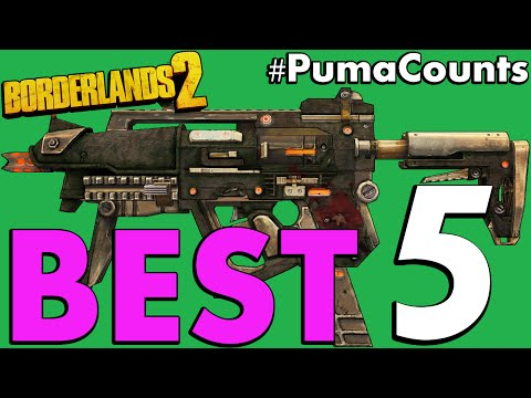 Top 5 Best Guns and Weapons in Borderlands 2 #PumaCounts |