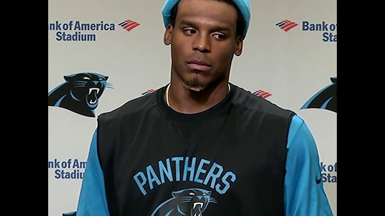 low priced ed562 bf282 Panthers quarterback Cam Newton laughs at reporter: 'It's funny to hear a  female talk about routes'