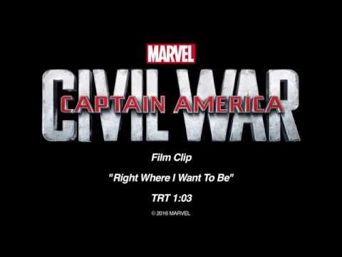 Captain America Civil War | RightWhereIWantToBe |Available on Blu-ray, DVD and Digital NOW!