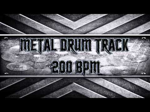 Metal Drum Track 200 BPM (HQ,HD)