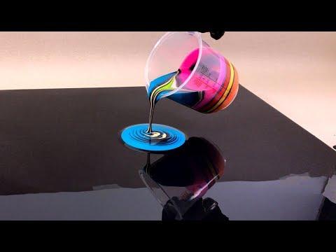 La technique du trou noir - Peinture acrylique fluide