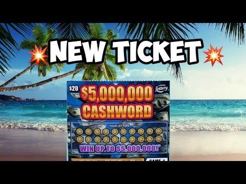 💥Big New Ticket💥 $5,000,000 Cashword Scratch Off Ticket| Florida Lottery