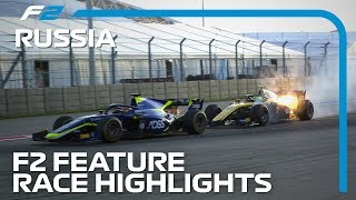 Formula 2 Feature Race Highlights | 2019 Russian Grand Prix