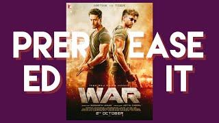 War Movie - Hrithik Roshan, Tiger Shroff Prerelease Edit #yrf #bollywood #hrithikroshan