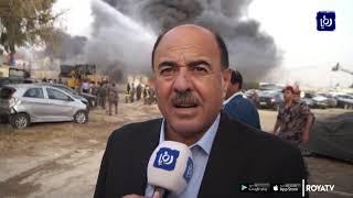 8 إصابات من الدفاع المدني خلال إخماد حريق زيزيا  -(9-6-2019)