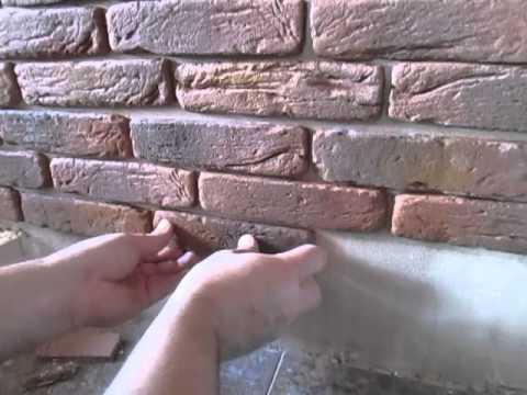 Как клеить искусственный камень из гипса