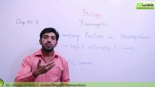Matric part 1 Biology, Limiting factors in Photosynthesis - Ch 7 Bioenergetics - 9th Class Biology