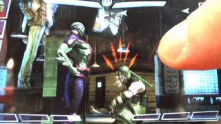 INJUSTICE iOS Level 40 Elite 1 Martian Man Hunter power moves and gameplay