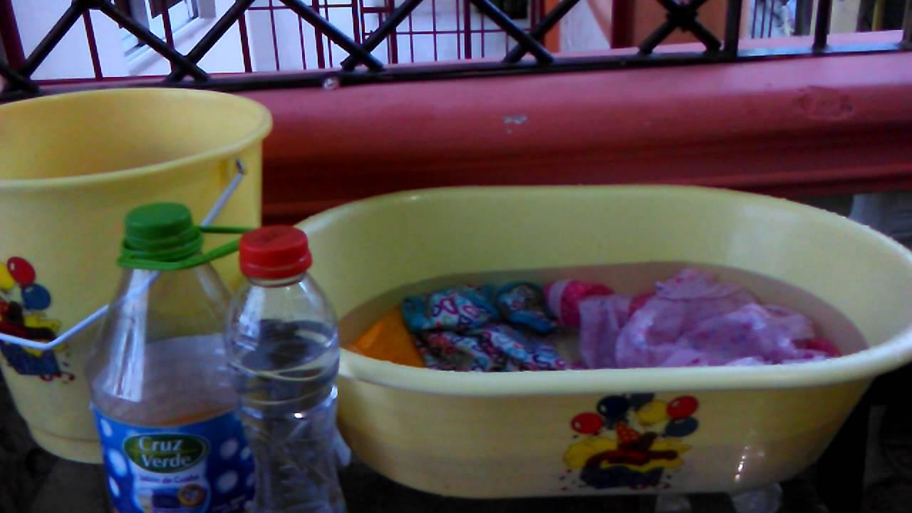 lavar la ropa de bebe recien nacido