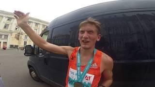 Олег Григорьев после победы на марафоне Белые ночи
