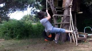 Skully98 (sam Wood) Gets Pwned By A Tire Swing!