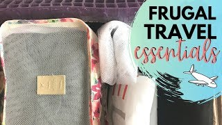 The best FRUGAL TRAVEL ESSENTIALS // Come pack with me!