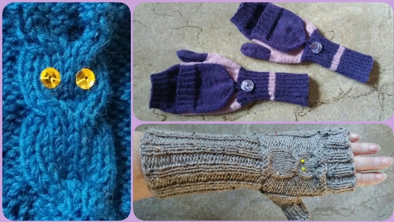 Armstulpen mit Eulen - Motiv, Armstulpen, Marktfrauen-Handschuhe ...