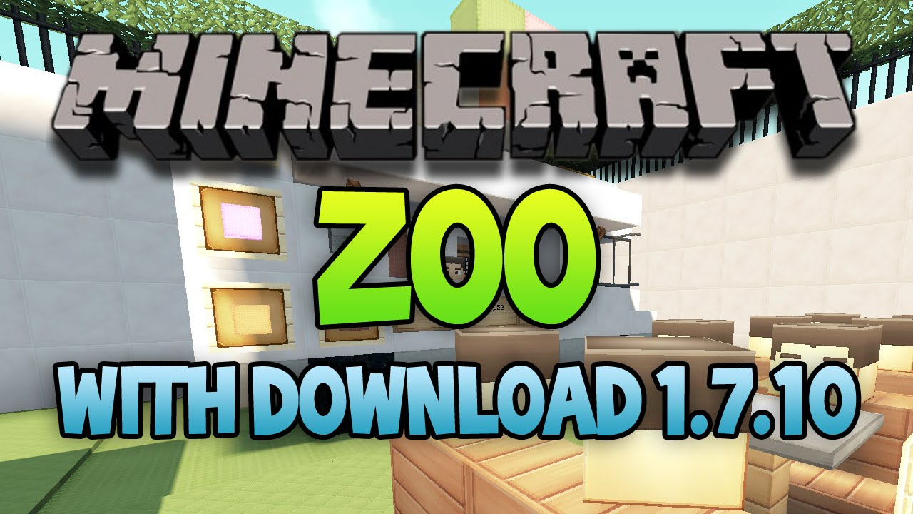 Minecraft Huge ZOO Map All Mobs And MORE Download YouTube - Maps fur minecraft 1 10