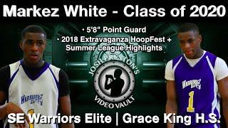 Markez White 2018 Summer Highlights - Grace King/SE Warriors Elite 2020 PG