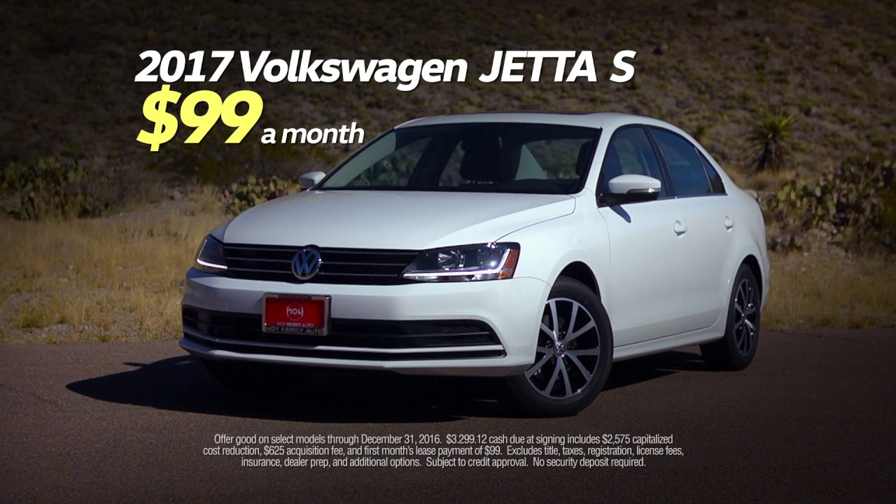 Hoy Volkswagen 99 Mo Jetta December Lease Special Youtube