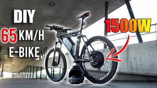 DIY Electric Bike 65km/h Using 1500W E-Bike Conversion Kit