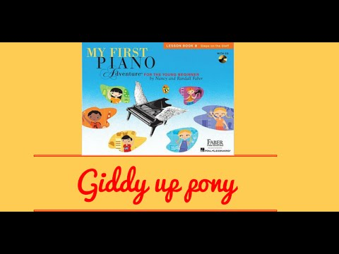 Piano Online: Giddy - Up, Pony with duet - My First Piano Adventures book 2