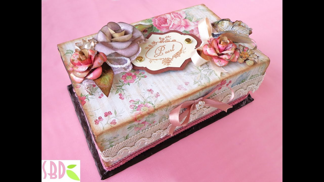 Estremamente Scatola dei Segreti Shabby Chic - Shabby chic box of secrets - YouTube QU95