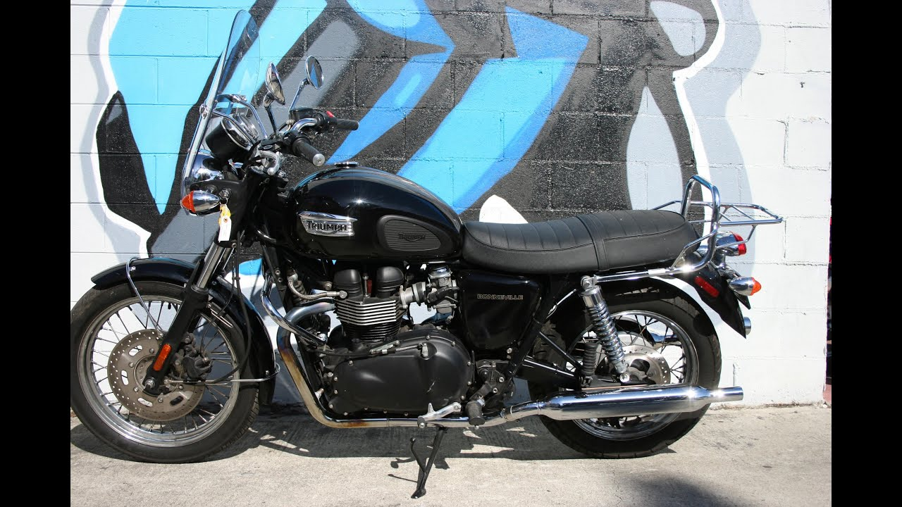 2009 triumph bonneville t100 motorcycle for sale - youtube