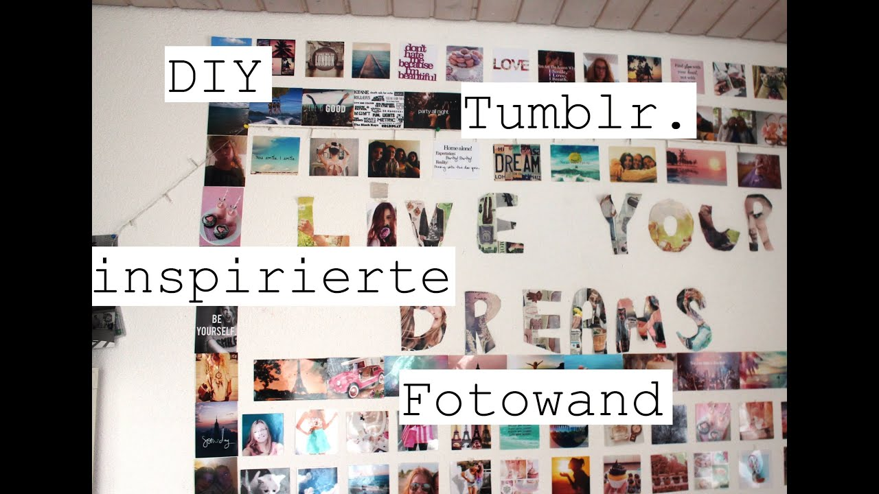 diy tumblr inspirierte fotowand tumblrweek youtube. Black Bedroom Furniture Sets. Home Design Ideas