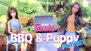 Unbox Daily:  Barbie Barbecue & Puppy Play Set Review - 4K