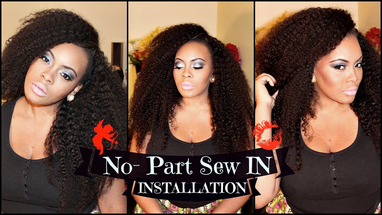 No part sew in installation tutorial with sway hair kinky no part sew in installation tutorial with sway hair kinky texture youtube pmusecretfo Images
